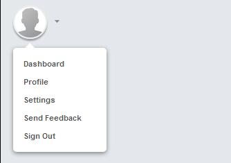 Round avatar with drop down profiles menu code