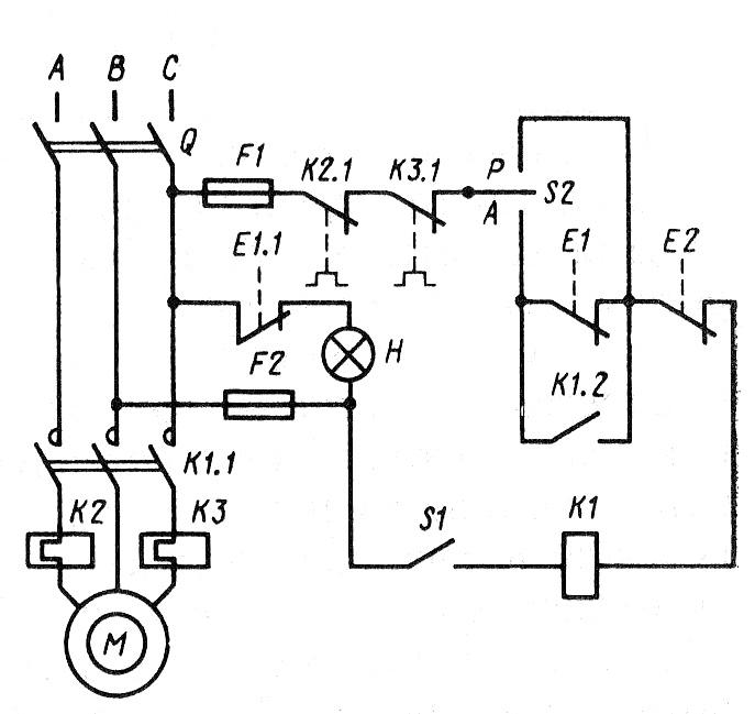 Принципиальная электрическая схема электропривода фото 117