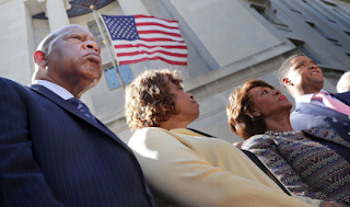 Black Caucus Marches To DOJ To Protest Shootings