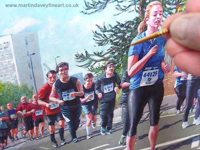 Southampton artist running painting
