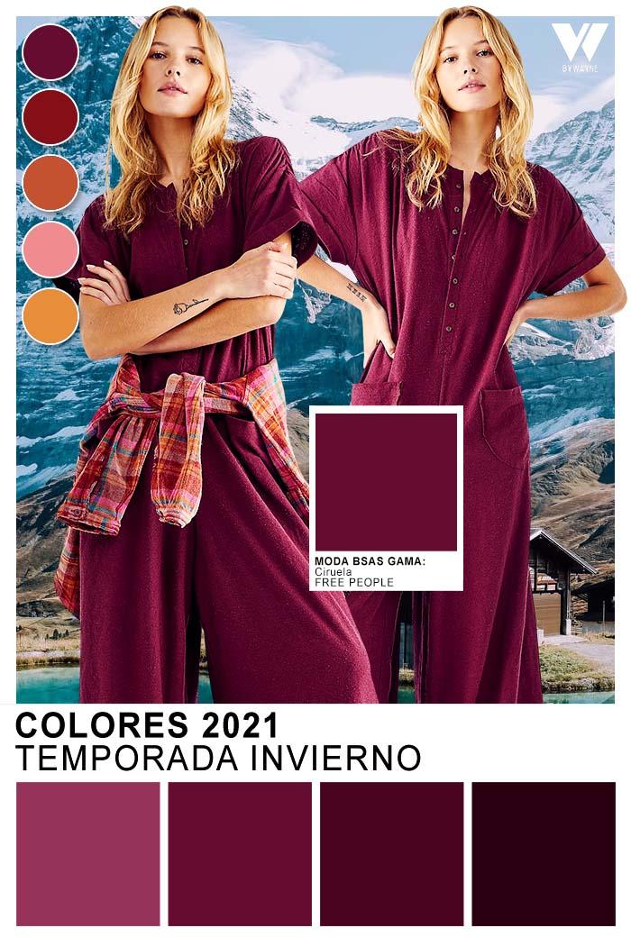 Moda invierno 2021 colores de moda 2021 ciruela bordo violeta