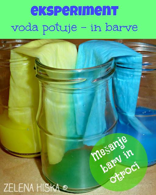 EKSPERIMENT VODA POTUJE - mešanje barv za otroke vseh starosti
