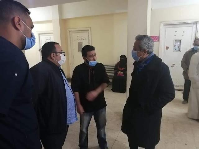 مرور مفاجئ لوكيل وزارة الصحة ليلا لمستشفي نجع حمادي العام