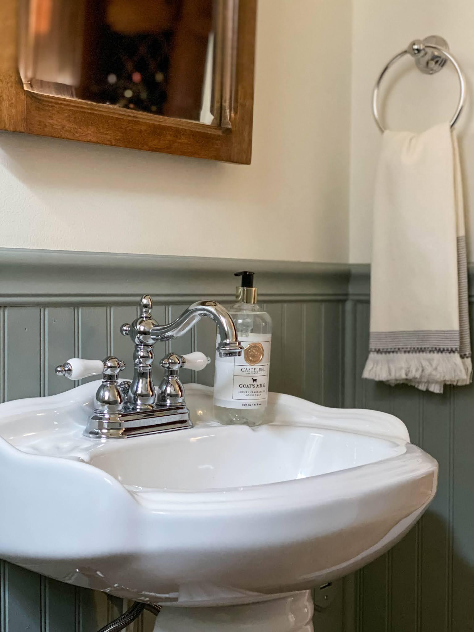 vintage chrome sink faucet