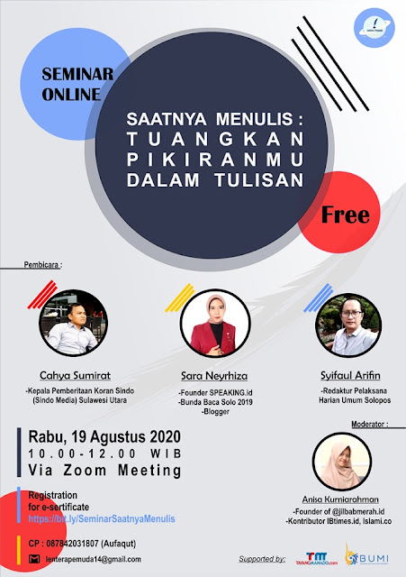 SEMINAR BLOGGER INDONESIA