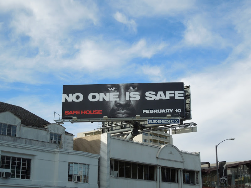 Safe House movie billboard