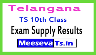 Telangana TS 10th Class Exam Supply Results