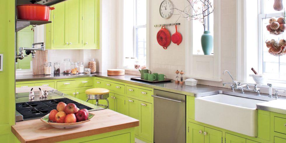 31 diseños de cocinas modernas de color verde
