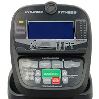 Inspire Fitness Cardio Strider CS4 monitor with blue backlit LCD screen, image