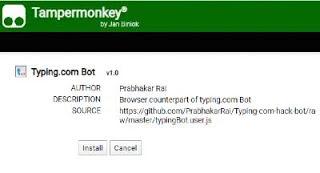typingBot.user.js Script