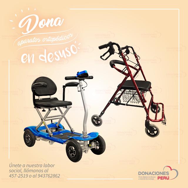 dona aparatos ortopedicos - aparatos ortopedicos - Dona salud - Dona y recicla - Recicla y dona - Dona Perú - Donaciones Peru - donalo