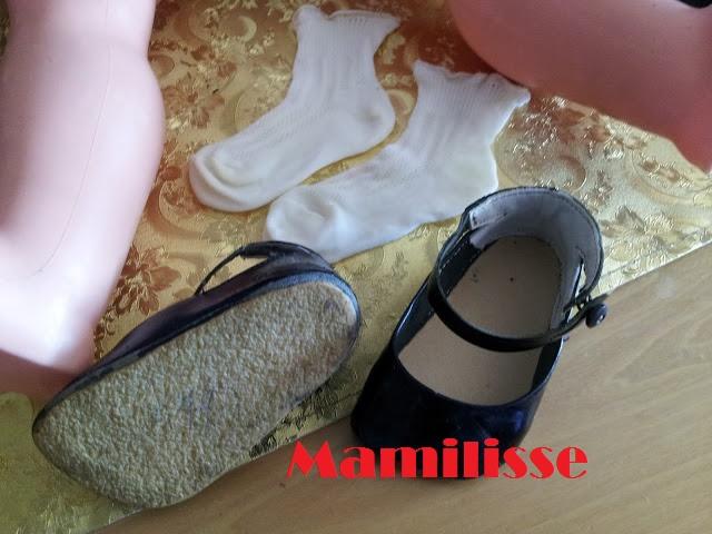 Zapatos de charol originales para muñeca Cristina