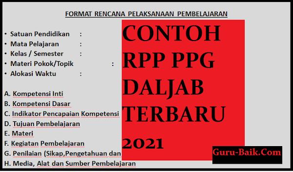 gambar contoh rpp PPG terbaru