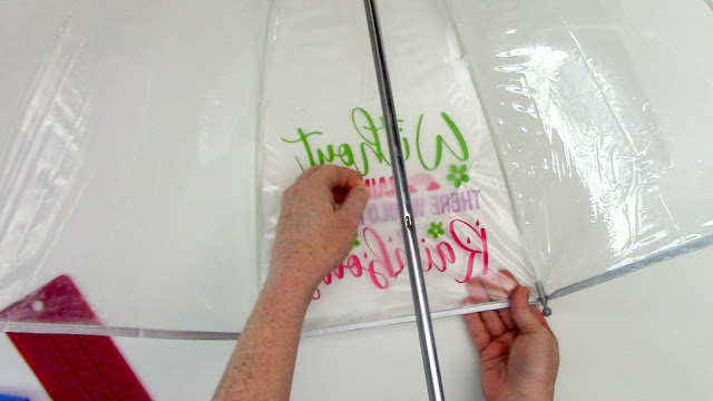 oracal 651, adhesive vinyl, vinyl on umbrella, silhouette cameo, silhouette project ideas