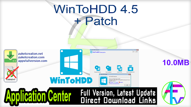 WinToHDD 4.5 + Patch