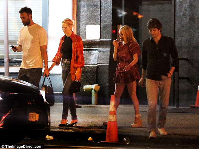 Jennifer Lawrence walks arms-in-arms with her new beau, Cooke Maroney