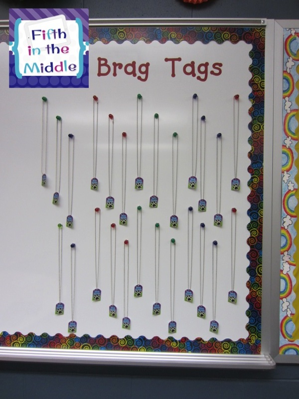 Brag tags motivate students to go above and beyond.