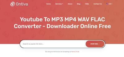 convert video youtube ke mp3 melalui situs ontiva.com