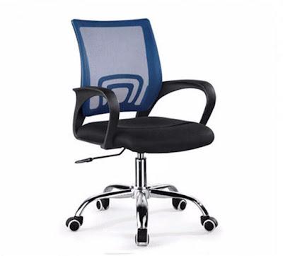 Gh%25E1%25BA%25BF xoay v%25C4%2583n ph%25C3%25B2ng GVP002 3 Ghế văn phòng chân xoay GLMV1   Màu xanh dương   Mẫu màu mới, đẹp, lạ