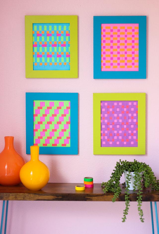 Diy Modern Woven Paper Art Design Improvised