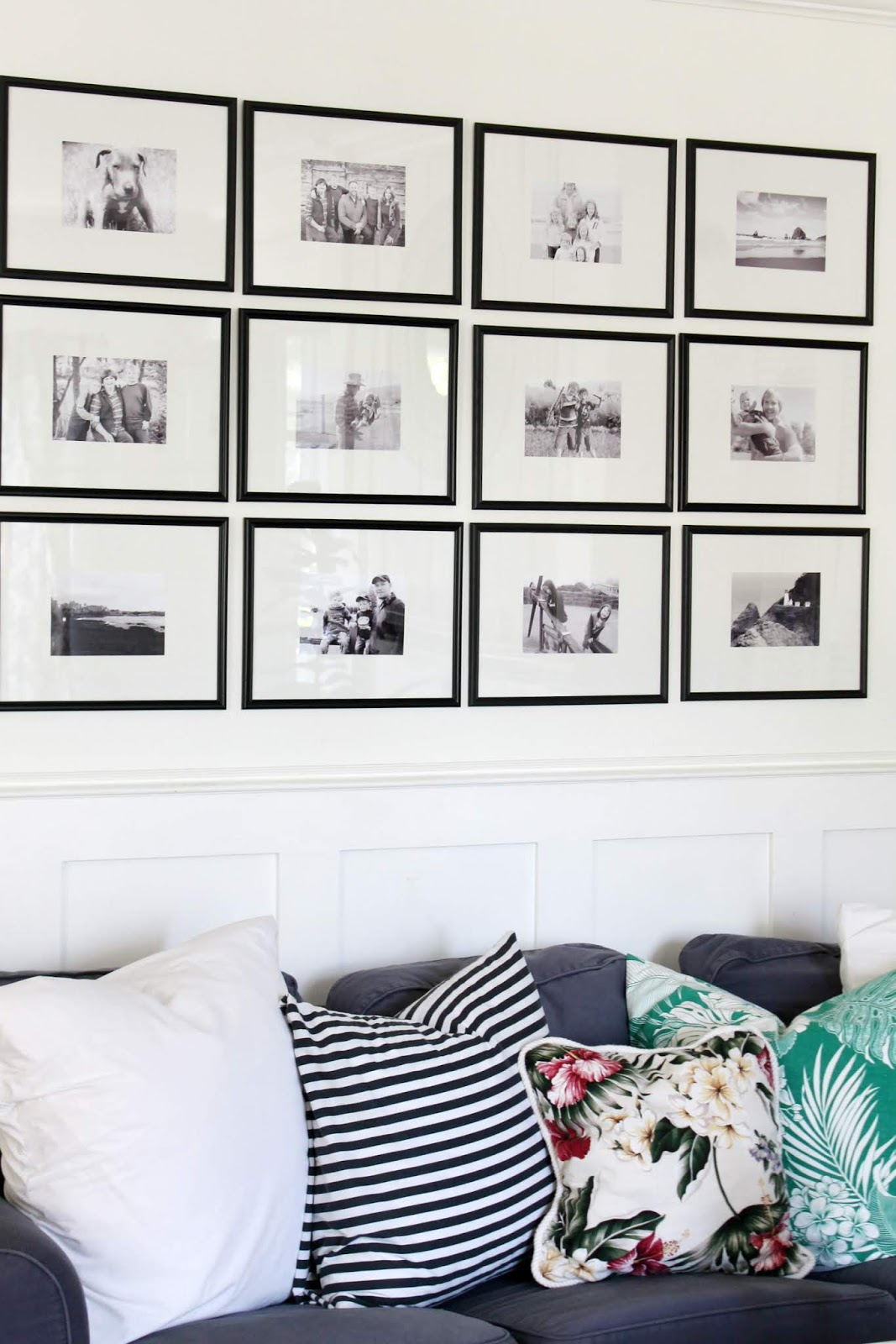 Picture Gallery Wall Using Dollar Store Frames The Wicker House
