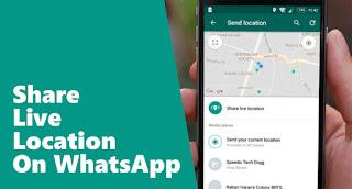 Cara Share Lokasi di Whatsapp Menggunakan Live Location