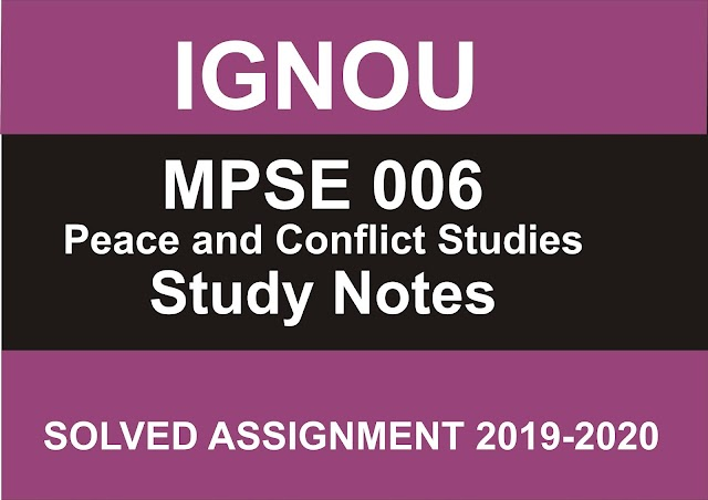 MPSE 006 Study Notes