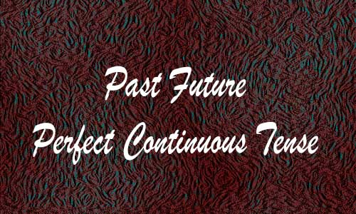Contoh Past Future Perfect Continuous Tense Aktif Pasif