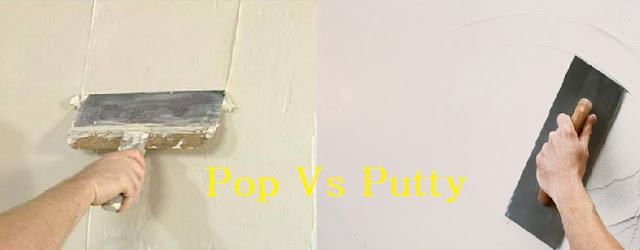 Pop Vs Putty - Difference Between Pop and Wall Putty