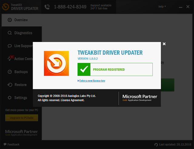 TweakBit Driver Updater 2016 v1.8.0.3 Serial Key