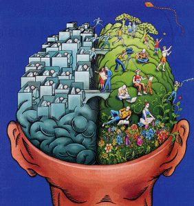 Eye movement brain activity