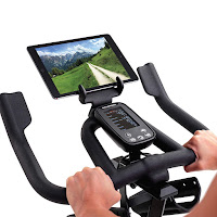 LCD monitor & tablet holder on Schwinn IC4 Indoor Cycle Spin Bike