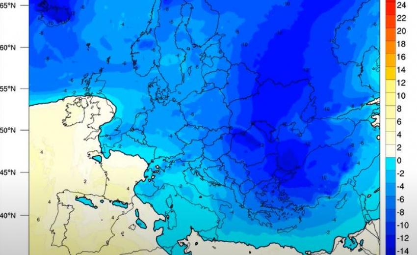 ΄Ερχεται η κακοκαιρία «Λέανδρος» με ολικό παγετό - Πότε ξεκινά η ψυχρή εισβολή (βίντεο)