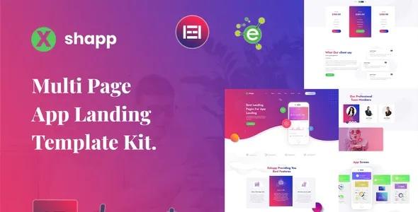 Best App Landing Elementor Template Kit