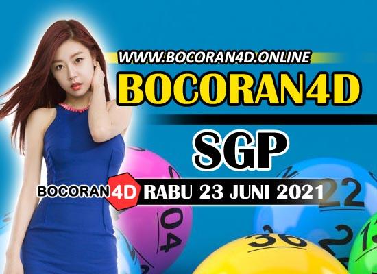 Bocoran Togel 4D SGP 23 Juni 2021