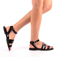 Sandale dama cu talpa ortopedica negre ieftine