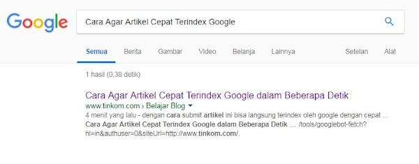 Cara Agar Artikel Cepat Terindex Google dalam Beberapa Detik (UPDATE SEP-2018)