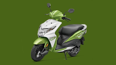 Honda Dio green shades