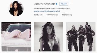 akun instagram Kimkardashian
