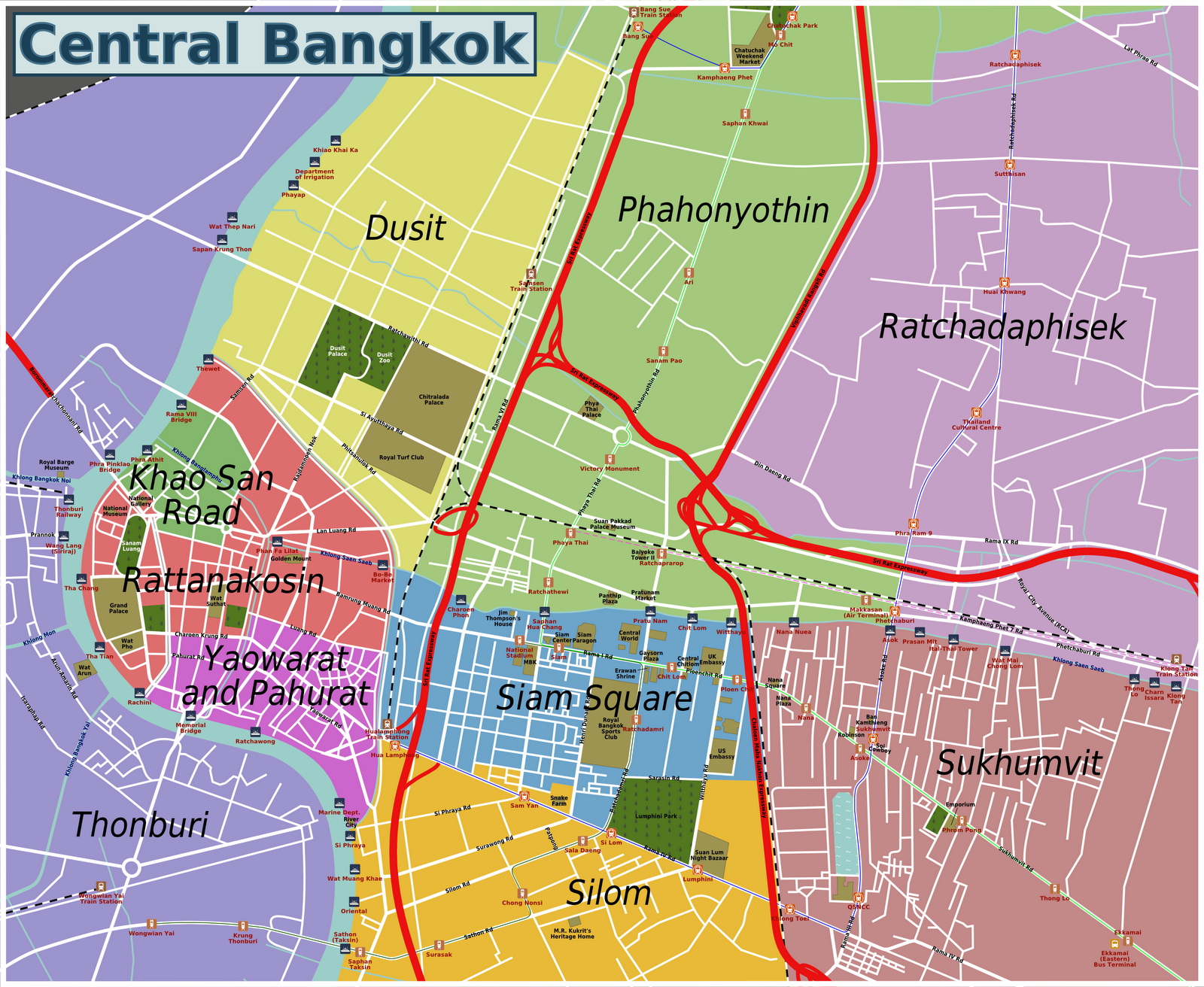 Bangkok Area Guide | Yes to Travel
