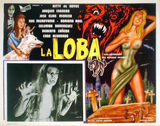 Cartel de cine - La loba - 1965 - Los horrores del bosque Negro