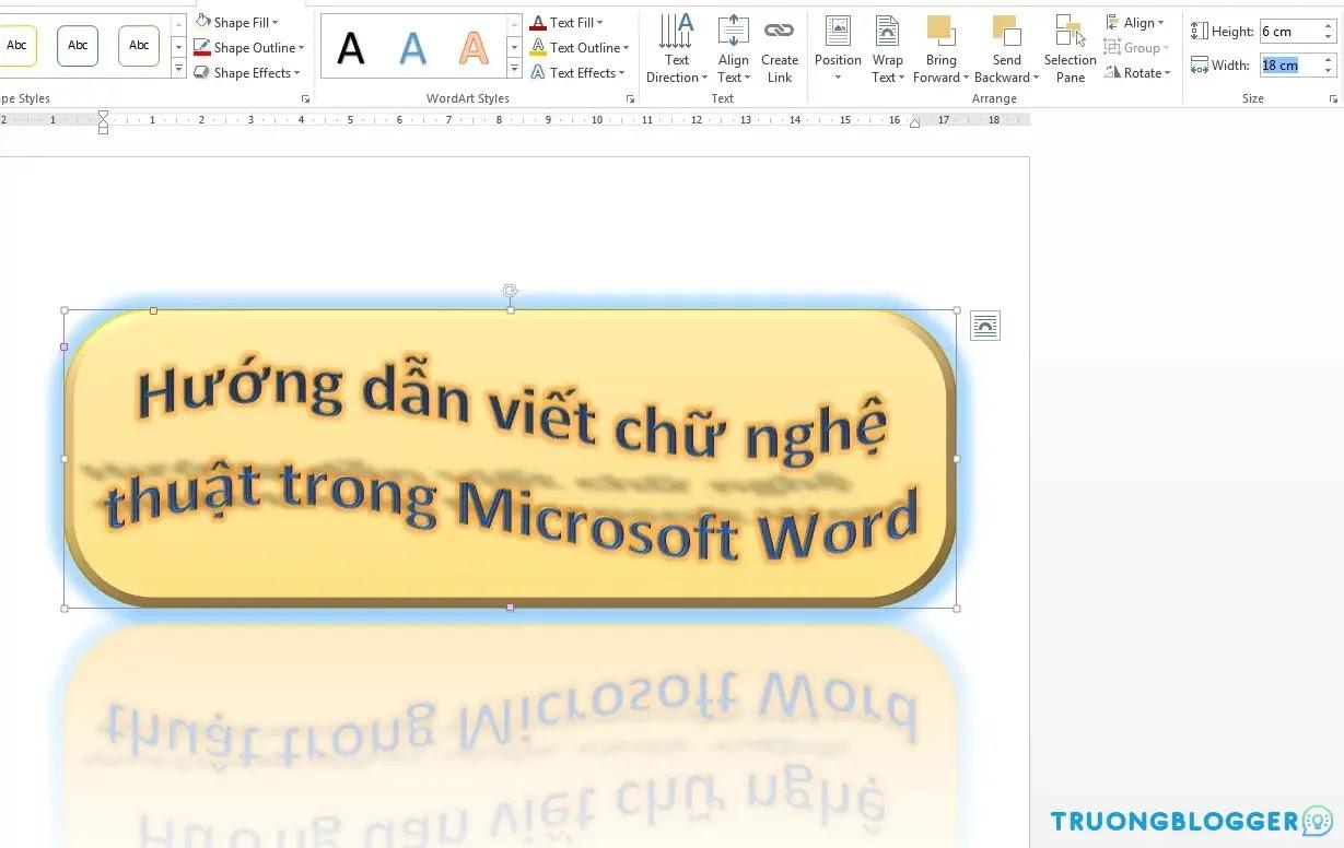 Cách tạo chữ nghệ thuật trong Word