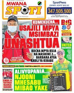 Habari kubwa za Magazeti ya Tanzania leo December 19, 2020