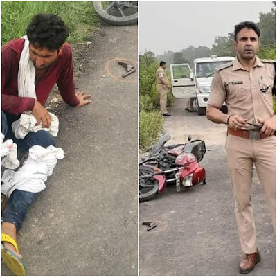 Uttar Pradesh Police Encounter Policeman Injured News In Hindi