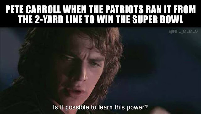 Pete carrol when the patriots ran it from the 2-yard line to win the super bowl. Is it possible to learn this power?