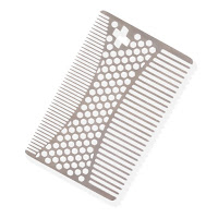 CREDIT CARD POCKET MEN HAIR AND BEARD COMB, CRAZY RUSSIAN HACKER, TARAS KUL,CRH