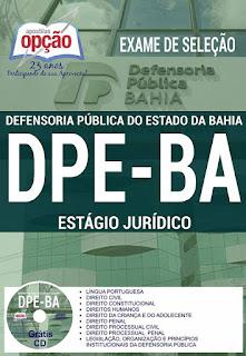 apostila download DPE BA exame de seleção 2017 - Estágio Jurídico Defensoria Pública do Estado da Bahia