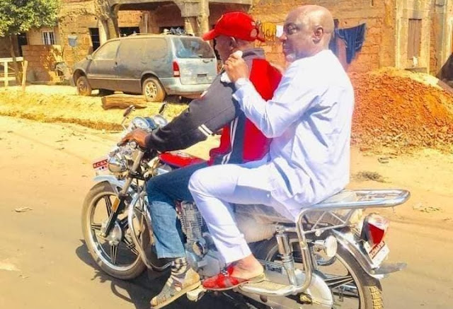 Nigerian Senator Spotted Attending A Wedding Ceremony On An Okada