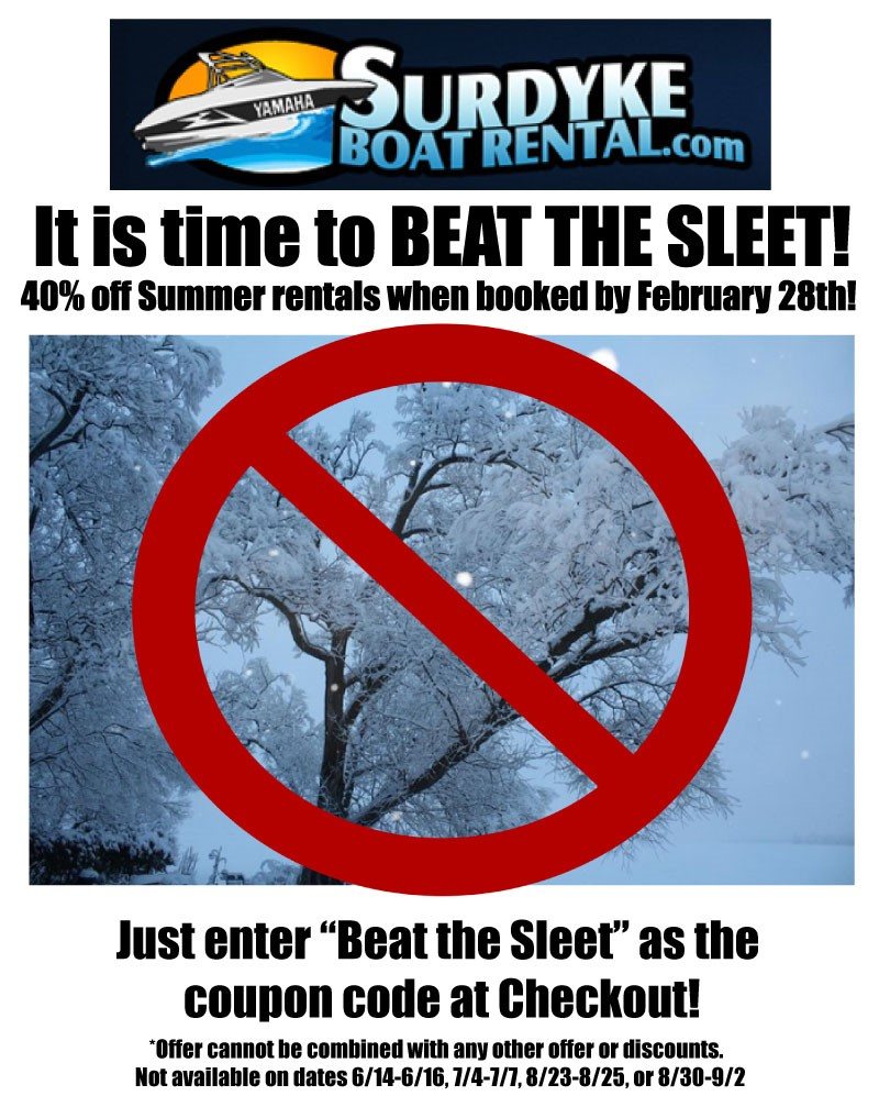 Beat The Sleet Save On Boat Rentals 40 Off Rentals