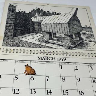 Kliban cat calendar